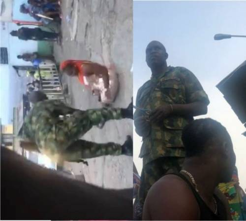 Soldiers Seen Extorting Pedestrians In Ibadan Arrested