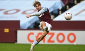 Jack Grealish scores Aston Villa's third goal against Southampton right at the end of added time