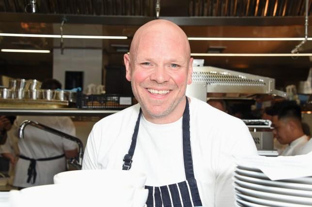 Chef Tom Kerridge in kitchen
