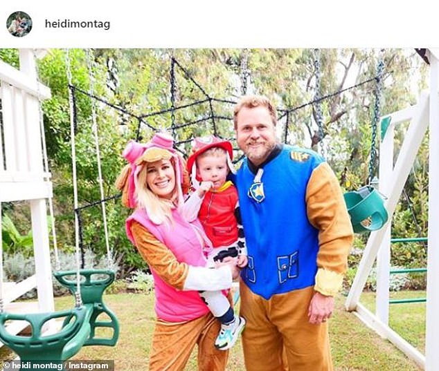 Celebrated: Heidi, 34, wrote on Instagram: 'It wasn't the Halloween I was expecting this year but it turned out to be a blessing in disguise. So thankful for great friends and family time