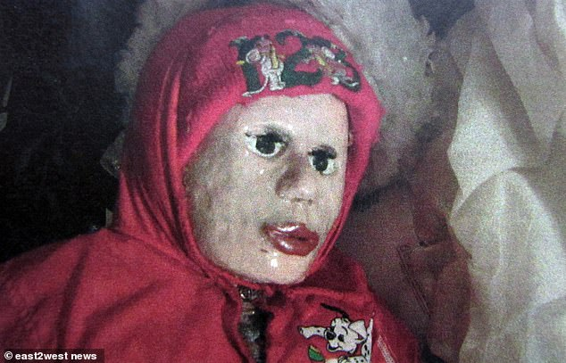 One of the dolls pictured above.The grave robber has refused to apologise to his victims' parents as he attended a custody hearing