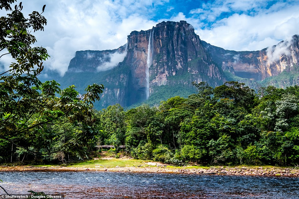 34. ANGEL FALLS, VENEZUELA: Buried deep in Venezuela's Canaima National Park, this waterfall is the world's highest uninterrupted waterfall, with a height of 3,211ft (979m) and is 'every bit as phenomenal as you'd expect', says Big 7 Travel