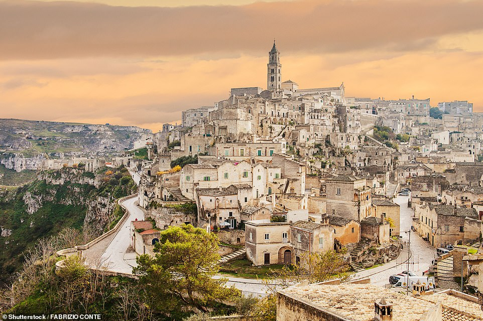 23. MATERA, ITALY: This historic town is built on top of a rocky outcrop and has 'ancient cave houses, stone-carved churches, Byzantine frescoes and everything that screams Southern Italy', says Big 7 Travel