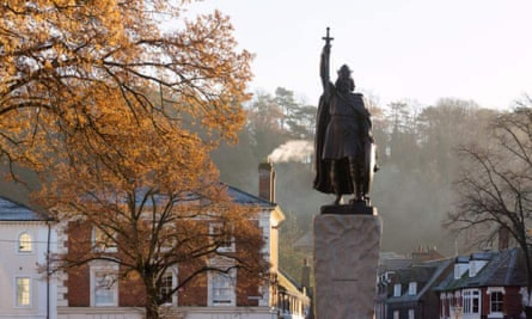 King Alfred the Great statue, Winchester.