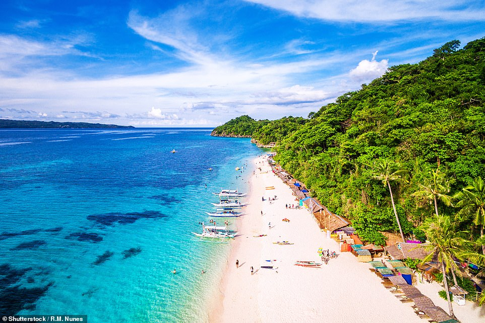 18. BORACAY, PHILIPPINES: This tropical island is 'one of the world's top destinations for some R&R', says Big 7 Travel, adding 'its tranquil beaches, casual nightlife and lush tropical scenery makes it easy to see why'