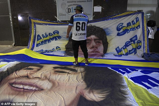 Fans have been praying for the Argentine football legend's swift recovery following surgery