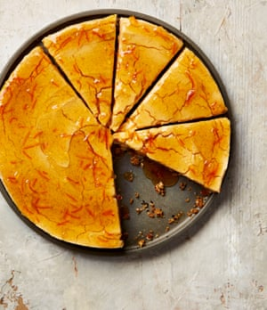 Yotam Ottolenghi's winter-spiced cheesecake with marmalade glaze