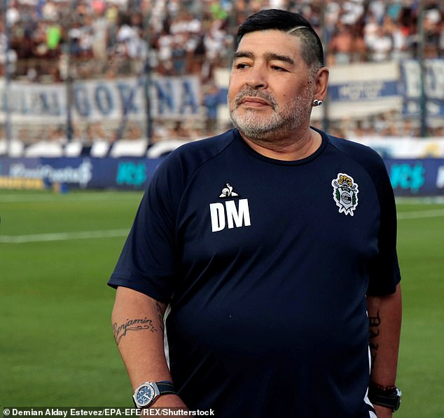Maradona (pictured in January) has a long history with drugs and alcohol, whichDonato Villani claimed made the surgery on his blood clot more complicated