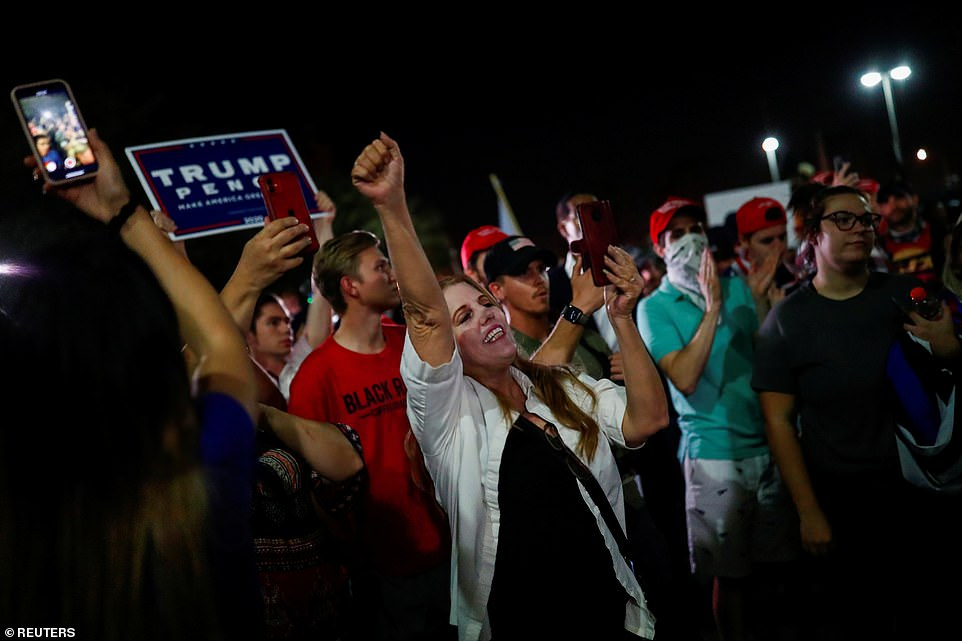 The protesters claimed that the election is unfair after debunked rumors spread from right-wing social media accounts
