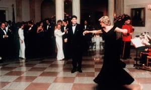 Diana dancing with John Travolta.