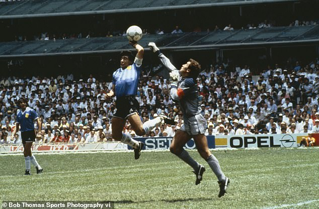 His 'Hand of God' goal against England is one of the sport's most controversial moments ever