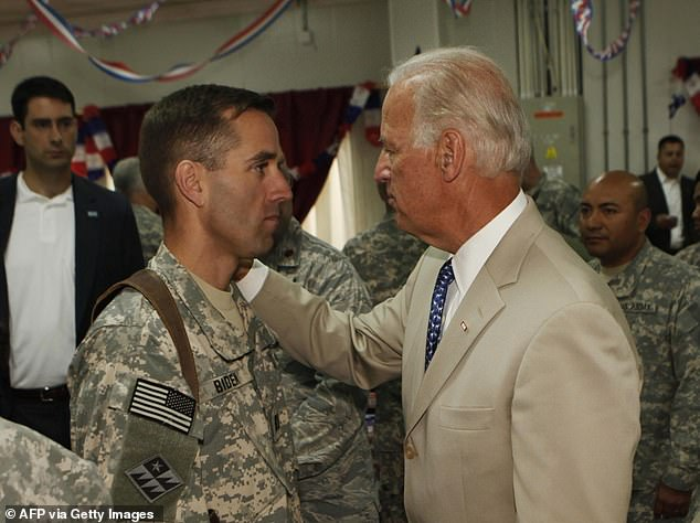 Beau served in Iraq and Biden visited him while he was Vice President under Barack Obama in 2009