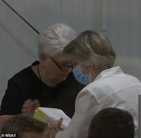Pictured: Votes being counted in Chatham County
