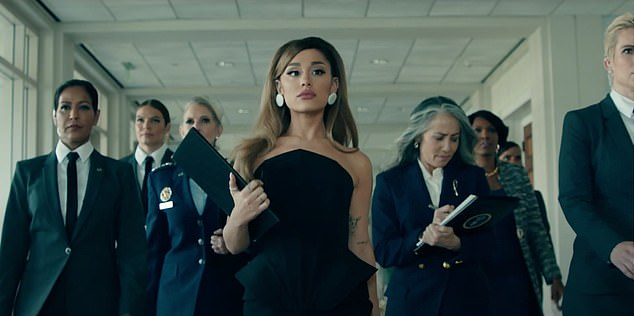 Setting an example: The Positions video depicted a female-led version of different branches of the government