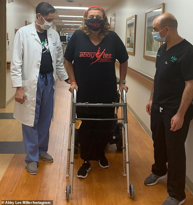 Taking small steps:'She's really come a long way. It's really a testament to her strength,' said Dr. Christopher Boudakian; seen in late October