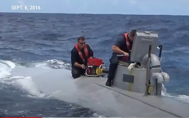 Members of the US Coast Guard managed to intercept this narco sub in September 2016