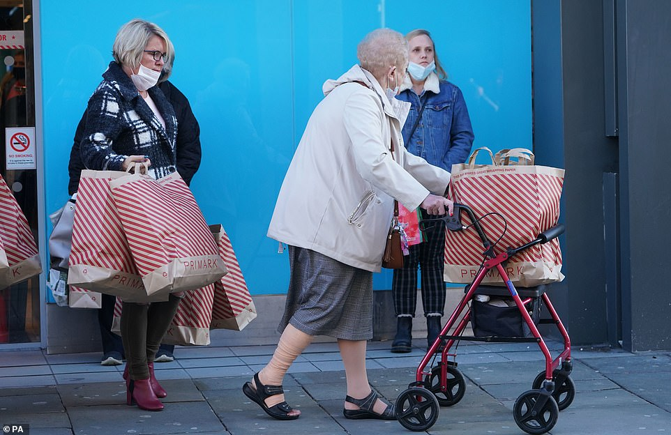 Keen bargain hunters in Newcastle hit the shops and stocked up on clothes, homeware and Christmas presents today