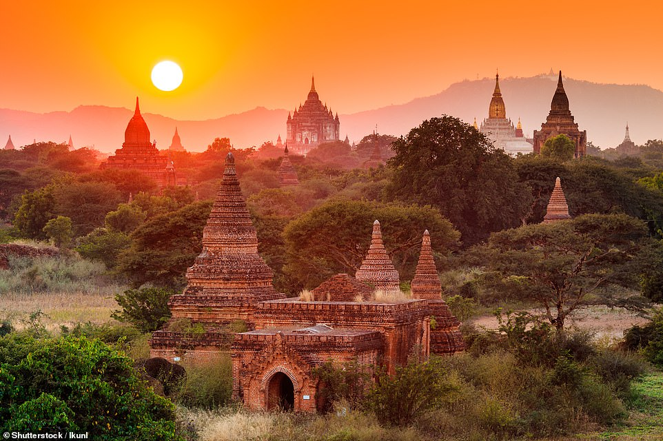 45. BAGAN, MYANMAR: This ancient city, which has over 2,000 temples and pagodas, is 'as naturally alluring as it is spiritually and historically significant', explains Big 7 Travel