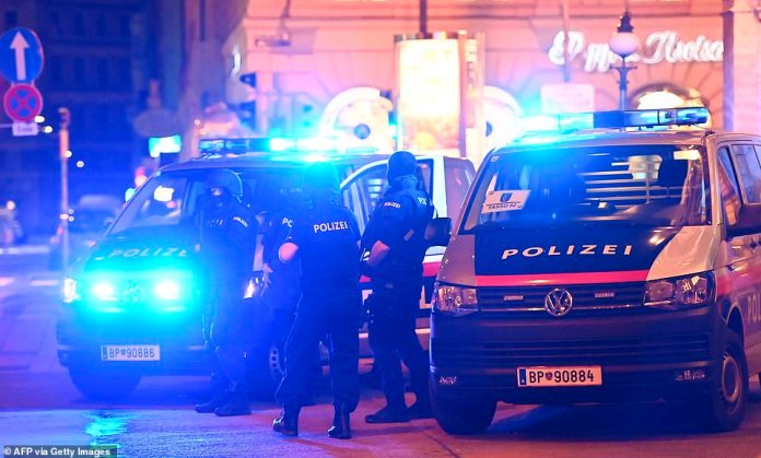 The rampage comes on the last evening before Austria goes into lockdown, with bars and restaurants in the country closed from midnight tonight