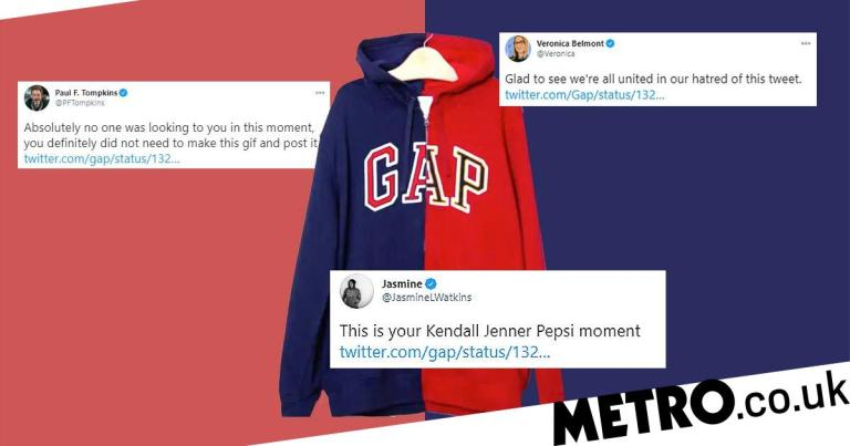 Gap's election-themed red and blue hoodie offends for being 'tone-deaf'