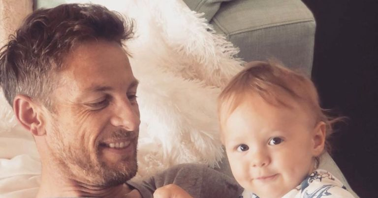 Jenson Button's baby son Hendrix rushed to hospital after suffering seizure