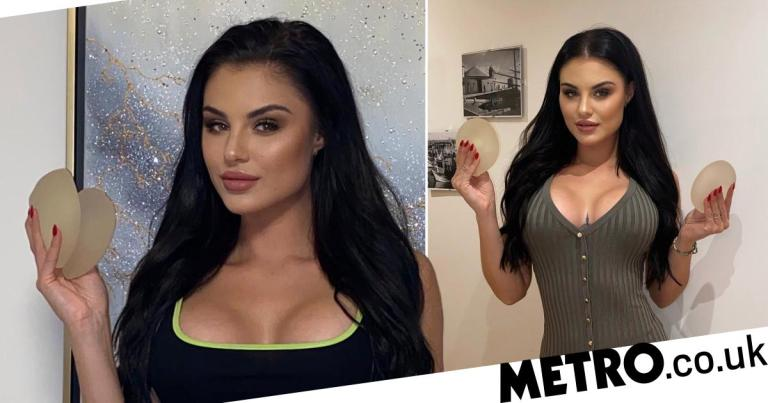Model who jokingly listed old breast implants as 'stress balls' shocked as they sell for £7,600