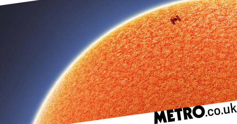 Spellbinding shots follow the ISS crossing the face of the sun