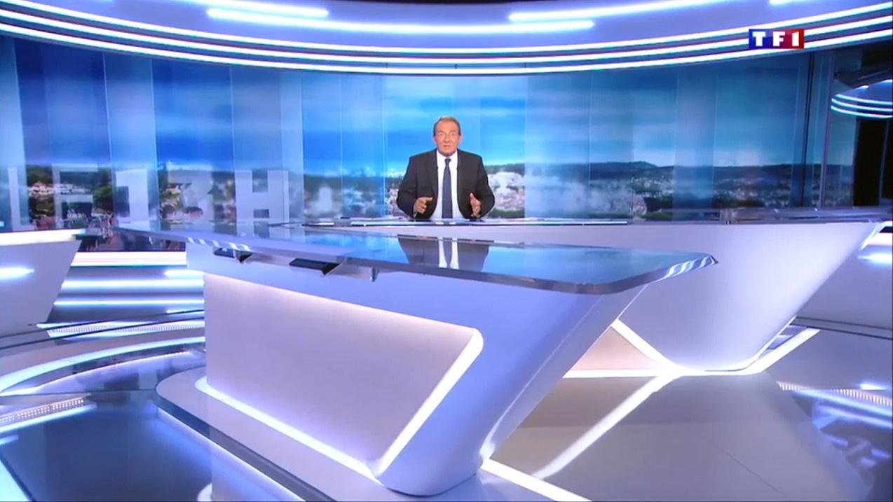 TF1 Journal Broadcast Set Design Gallery