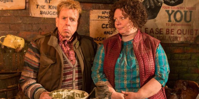 Timothy Spall e Joanna Scanlan in Fungus The Bogeyman