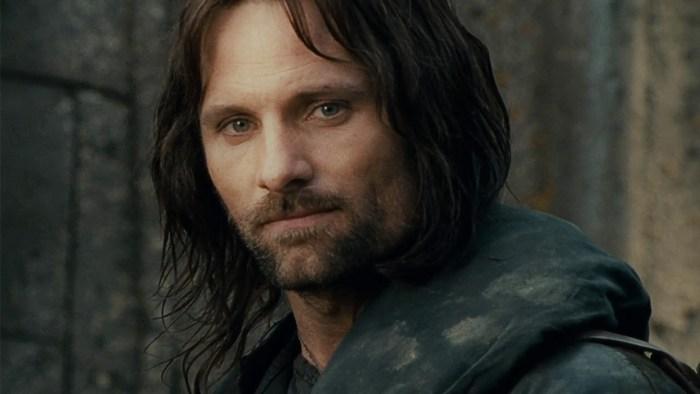 Viggo Mortensen nei panni di Aragorn nel film Il Signore degli Anelli