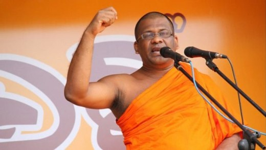 Galagoda Aththe Gnanasara, the controversial leader of Bodu Bala Sena