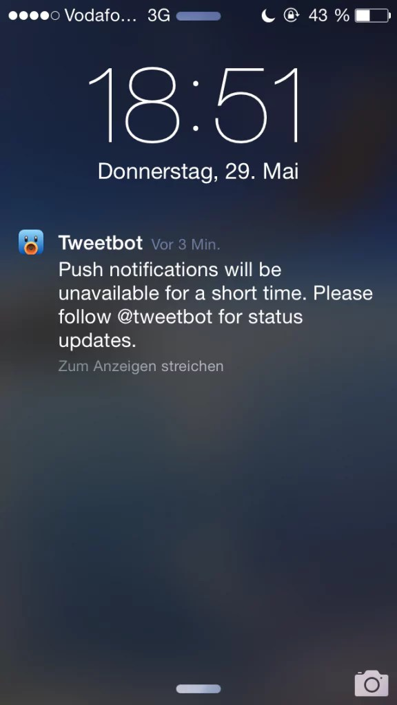 Tweetbot ohne Push-Benachrichtigungen