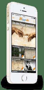 Blappsta - Homescreen einer App