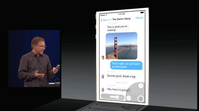 iOS 8 - Sprachnachrichten