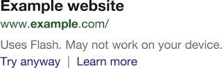 Google warnt vor Flash