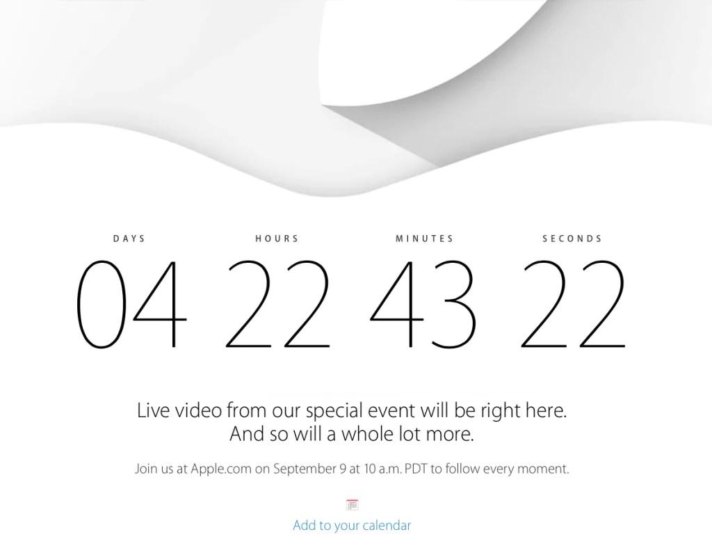 Apple Event - 9. September 2014 - Livestream