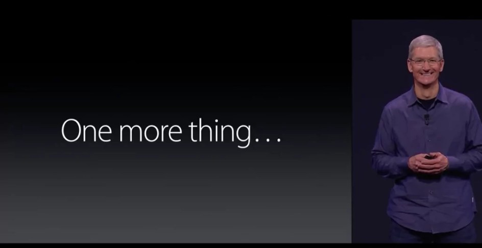 "Apple CEO Tim Cook verkündet das ""One more thing"" - Apple Watch"