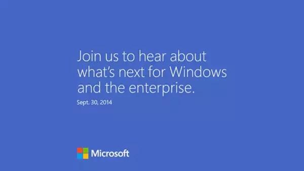 Microsoft Einladung 30. September 2014 (Bildquelle: The Verge)