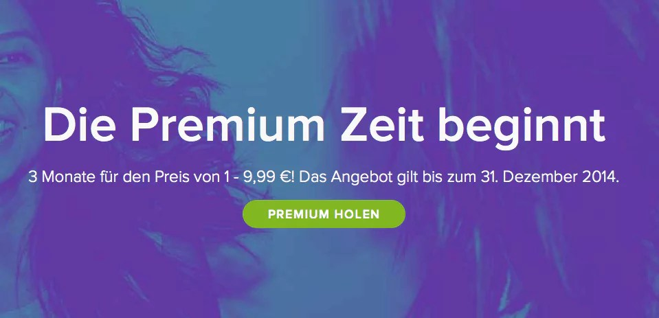 Spotify: 3 Monate Premium zum Preis von einem