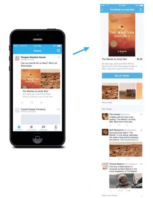 Twitter Produktseiten