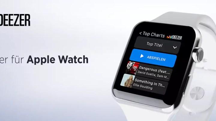 Deezer App ab sofort auch für die Apple Watch verfügbar
