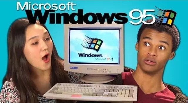 Teenager Reaktionen auf Windows 95
