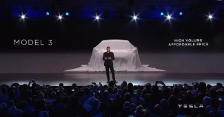 Tesla Model 3 Event mit Elon Musk