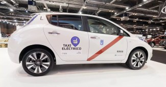 Elektroauto - Nissan Leaf als Elektrotaxi
