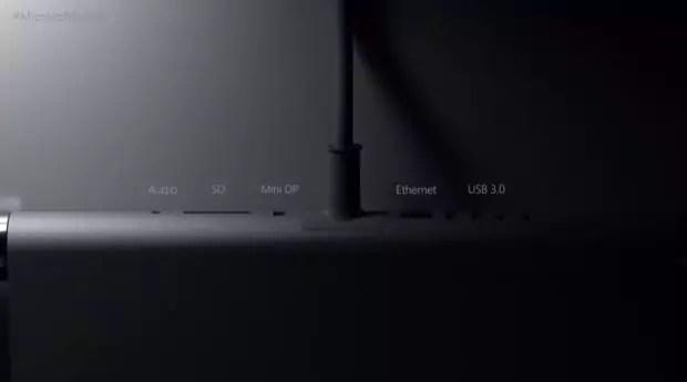 Anschlüsse des Microsoft Surface Studio