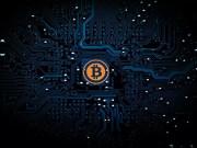 Digitale Währung Bitcoin in der Blockchain