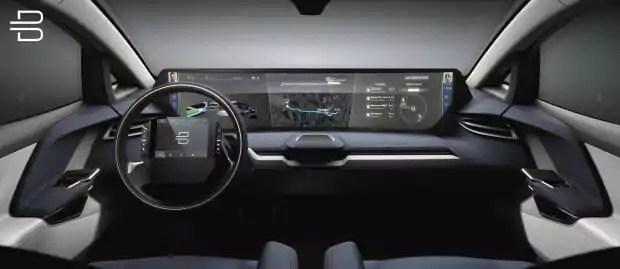 Die Befehle werden dem Wagen per Sprachsteuerung oder über Touchscreen am Lenkrad mitgeteilt