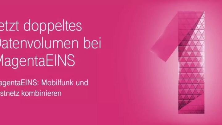 Deutsche Telekom: Doppeltes Datenvolumen für MagentaEINS-Kunden