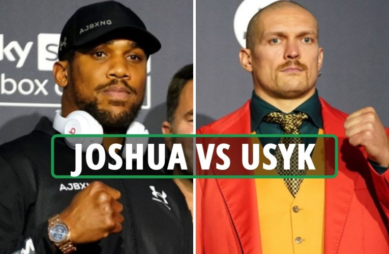 Anthony Joshua vs Oleksandr Usyk LIVE: AJ and Usyk prepare for weigh-in for fight TOMORROW