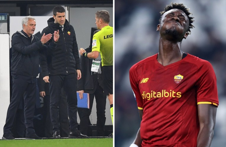 Jose Mourinho involved in fuming tunnel row after Roma denied goal in controversial defeat to Juventus